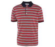 Polo-Shirt, Baumwolle, Logo-Stickerei, gestreift