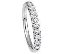 Ring 585 Weißgold mit 9 Diamanten, zus. ca. 0