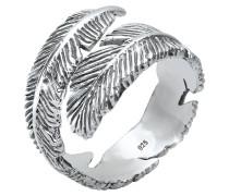 Ring Wickelring Feder 925 Sterling Silber