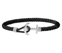 Ankerarmband PHREP Lite Edelstahl Nylon Schwarz PH-PHL-N-S-B-XS