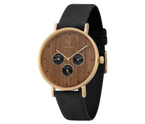 Armbanduhr Caspar Shining Wood WATMCAS5896 Chronograph