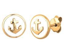 Ohrringe Anker Maritim Emaille Sailor Trend 925 Silber