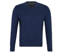 Pullover, Strick, V-Ausschnitt, Feinstrick, unifarben