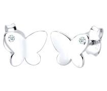 Ohrringe Kinder Schmetterling Diamant (0.04ct.) 925 Silber