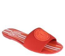 Pantoletten, Slides, Logo-Aufnäher