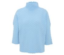 Pullover, 3/4-Arm, strukturiert, Stehkragen