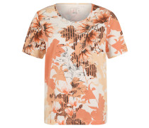 T-Shirt, Allover-Print, Strass-Besatz