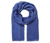 Schal, leichter Stoff, gewebt, Fransen, Emblem
