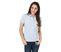 Poloshirt, Label-Stickerei, Saum-Schlitz