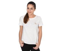 T-Shirt, Rundhalsausschnitt, Katzen-Stickerei