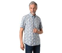 Hemd, Kurzarm, floraler Print