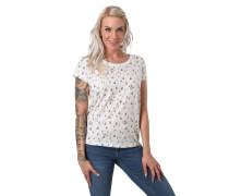 T-Shirt, Flammgarn-Optik, reine Baumwolle, Rundhalsausschnitt