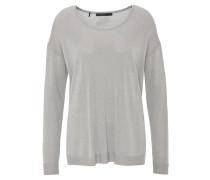 Pullover, Glitzereffekt, Seitenschlitze, leicht
