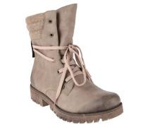 Boots, Leder-Optik, Wollfutter, Used-Look