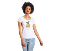 T-Shirt, Pailletten, Paspel-Ärmel