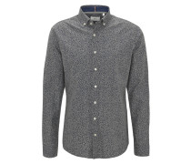 Hemd, Modern Fit, Button-Down-Kragen, florales Muster
