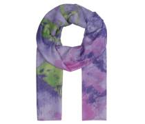 Schal, Batik-Look, leicht transparent