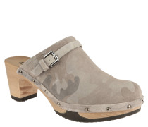"Clogs ""Hetty"", Camouflage-Look, Riemchen, Nieten"