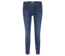 "Jeans ""Mina"", Slim Fit, Used-Look, unifarben"