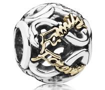 Charm Immer in meinem Herzen Gold mit Silber  791523CZ