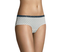 "Panty ""Lismore"", Spitzen-Bordüre, Allover-Print"