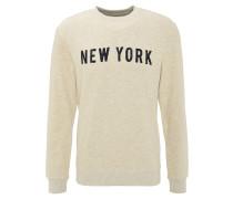 Sweatshirt, Front-Print, Rippbündchen