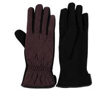Handschuhe, Material-Mix, Stepp-Optik