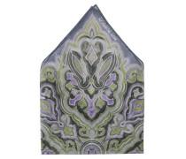 Einstecktuch, Ornament-Muster, reines Leinen