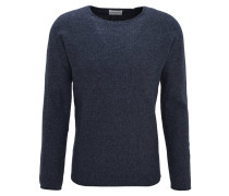 Pullover, Strick, Baumwolle, Raglan-Ärmel, meliert