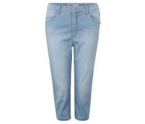 Jeans, Capri-Länge, Regular Fit, Umschlag-Saum