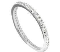 Ring, Sterling  925, -Zirkonia, zus. 0,48 ct