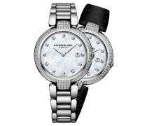 Shine Damenuhr, Wechselbänder, 81 Diamanten, Quarz, RW 1600