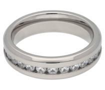 Titan Ring, Zirkonia-Steine, poliert