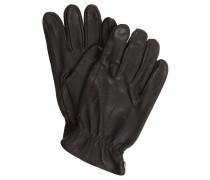 Handschuhe, Leder, gefüttert, unifarben