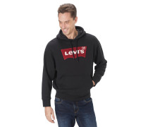 Hoodie, Tunnelzug, Logo-Print, Kängurutasche