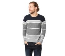 Pullover, Rollsaum, Streifen, Baumwolle