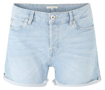 Jeans-Shorts, Vintage-Optik, Fransensaum