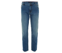 Jeans, gerader Schnitt, helle Waschung
