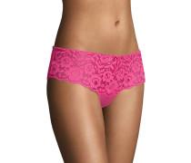 "Panty ""Faye"", florale Spitze, unifarben, leicht transparent"