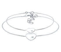Armband Herz Mutter Kind Swarovski® Kristalle