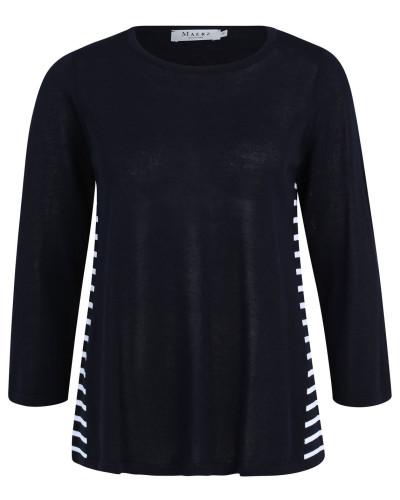 Pullover, Strick, Streifen, leicht transparent