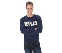 Sweatshirt, Logo-Print, Rippbündchen, Baumwolle