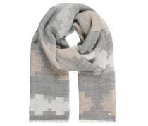 Schal, Woll-Anteil, fransiger Saum, geometrisches Muster