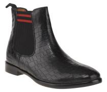 Chelsea Boots, Reptil-Optik, Leder