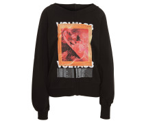 Sweatshirt, weite Ärmel, Front-Print, Baumwolle