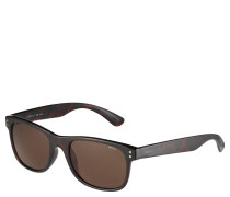 Sonnenbrille, rechteckig, Tortoise-Muster