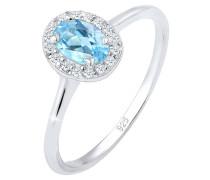 Ring Verlobungsring Topas Diamant (0.16 Ct.) 925