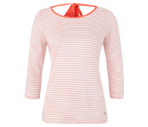 Shirt, 3/4-Arm, Zierbänder, gestreift