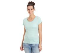 T-Shirt, gestreift, Brusttasche, reine Baumwolle
