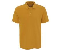 Poloshirt, strukturiert, Logo-Stickerei, unifarben